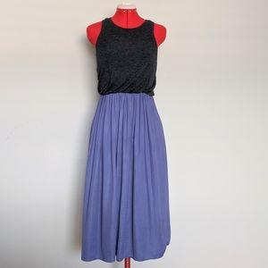 5/$25 Loft Purple Gray Tank & Midi Skirt Dress sm